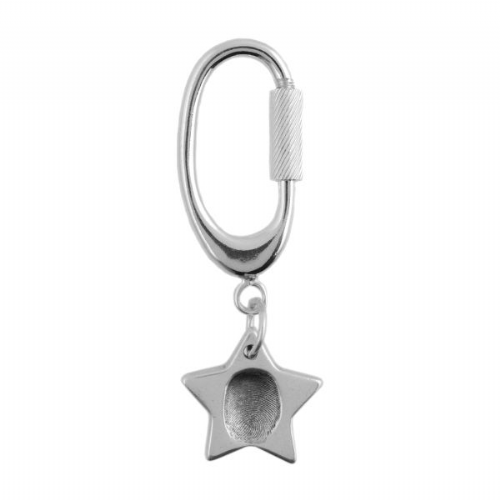 Star Fingerprint Key Ring